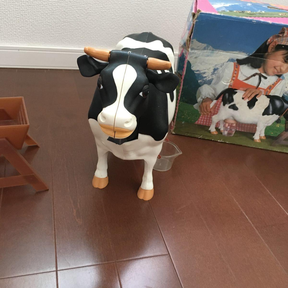 入手困難!ミルクモウモウ ツクダオリジナル 昭和レトロ ビンテージ玩具 MILK MOUMOU 知育玩具 牛 フィギュア ホルスタイン乳牛 搾乳_画像2