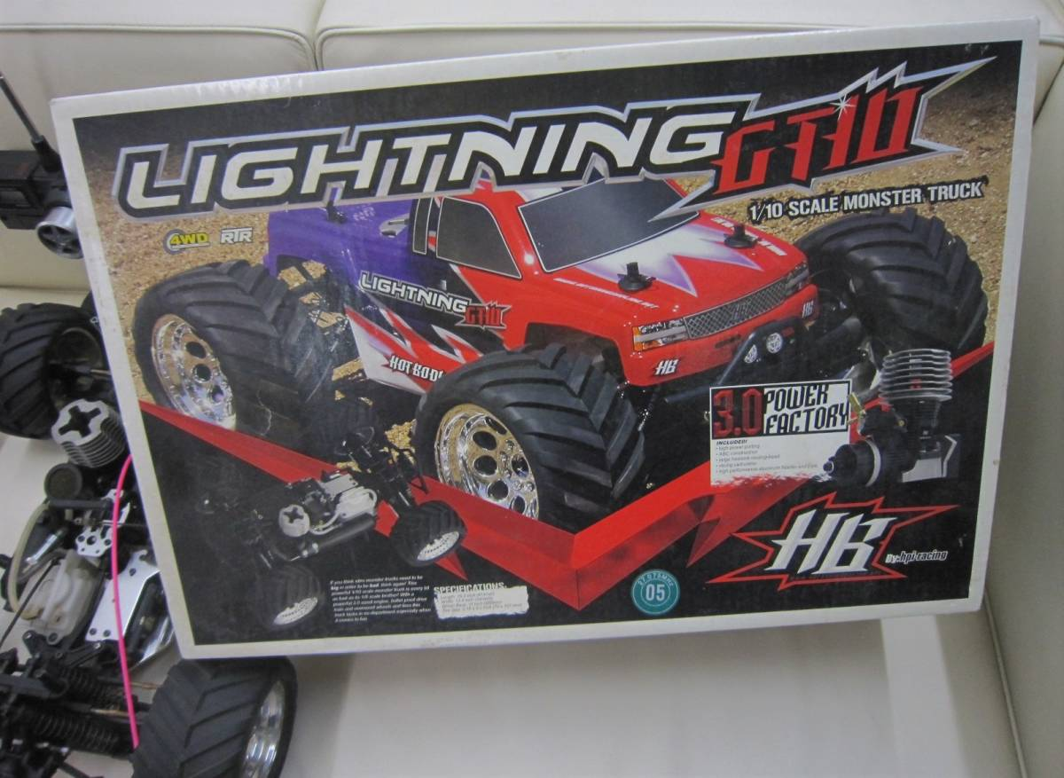■ジャンク品☆HPI 1/10 ライトニング GT10 SPORT RTR エンジンRC★部品取り等に_画像2