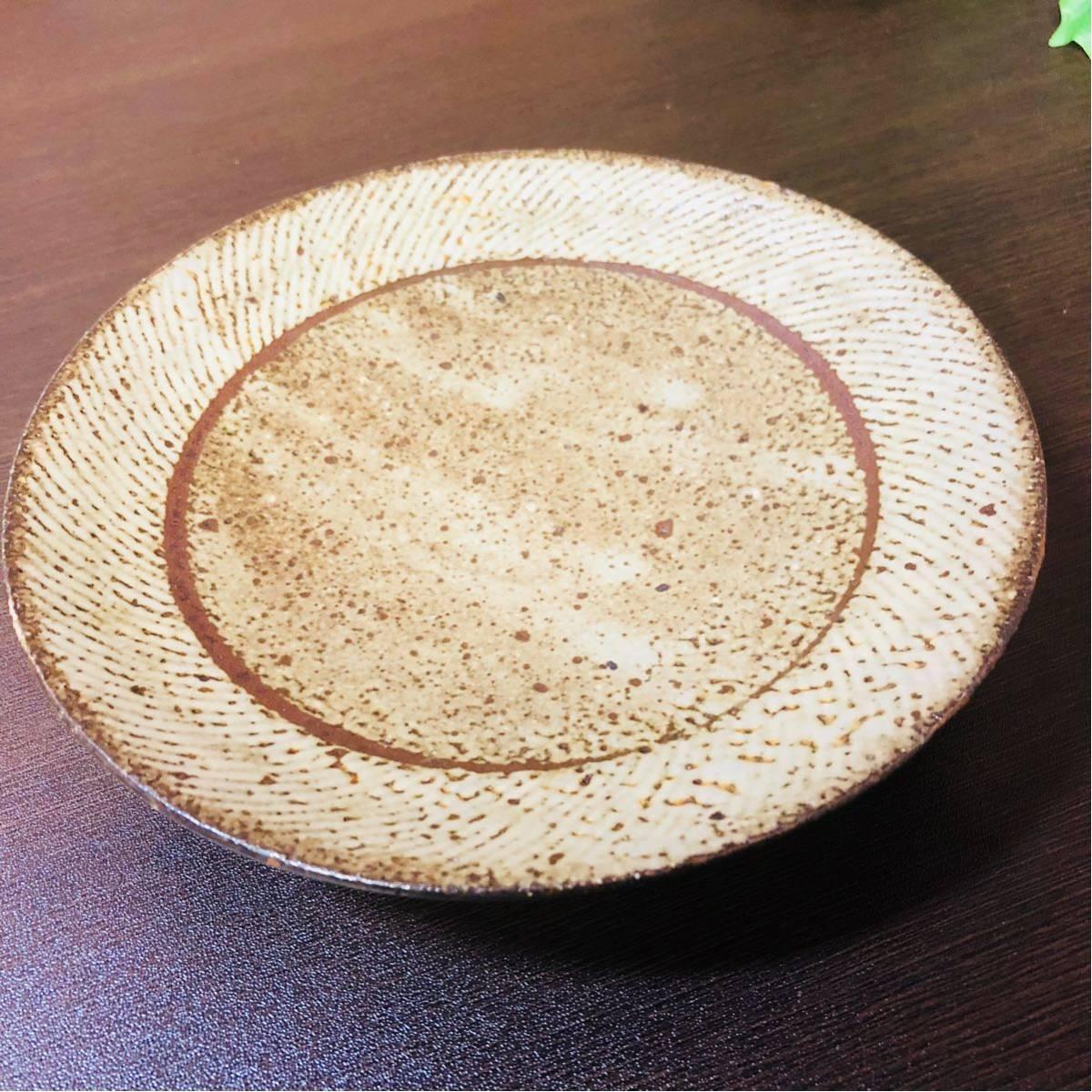人間国宝 島岡達三 象嵌皿 初期に製作したもの_画像2