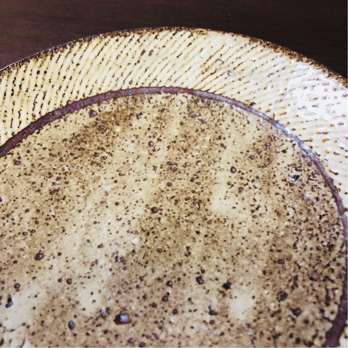 人間国宝 島岡達三 象嵌皿 初期に製作したもの_画像3