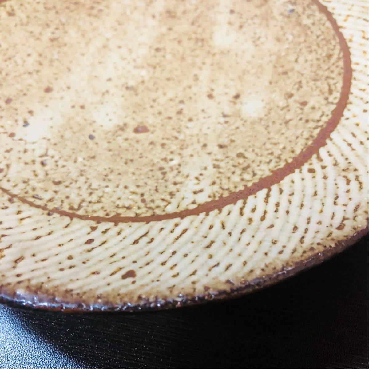 人間国宝 島岡達三 象嵌皿 初期に製作したもの_画像4
