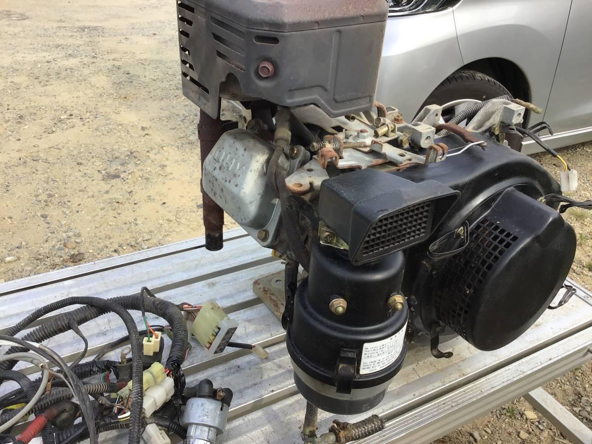 三菱 GM301L 10馬力 ガソリンエンジン セル付 中古動作品_画像4