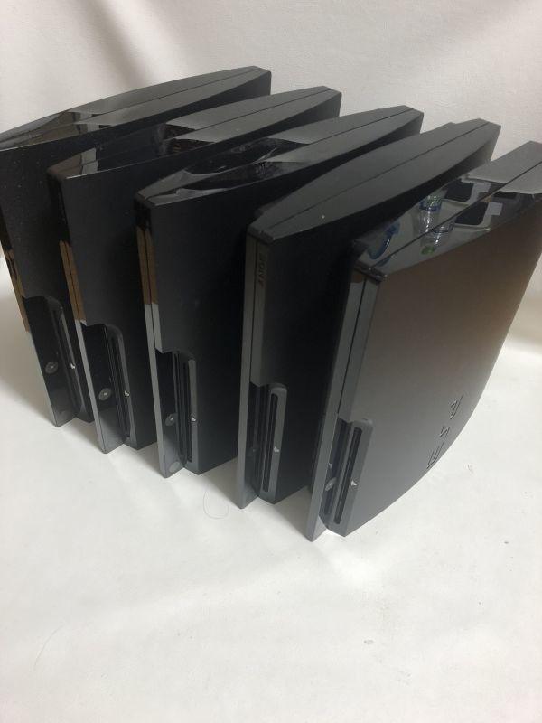 中古 ジャンク PS3 本体 5台セット まとめ売り 薄型 プレステ3 PlayStation3 動作未チェック品 1円スタート CECH-2000A 2100A 2500A 3000B