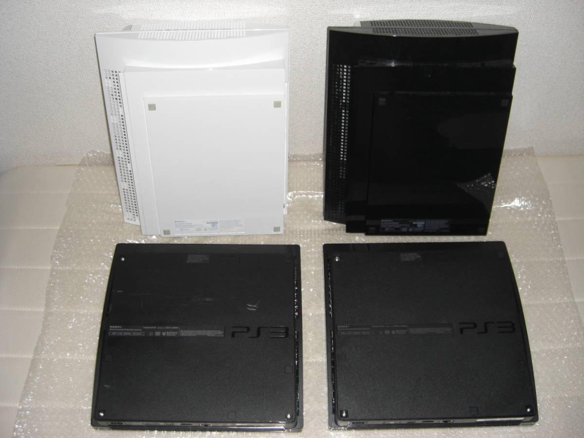 2 ジャンク まとめ PS3本体4台 コントローラー4個 2000A 2500B CECHL00黒 CECHL00白_画像2