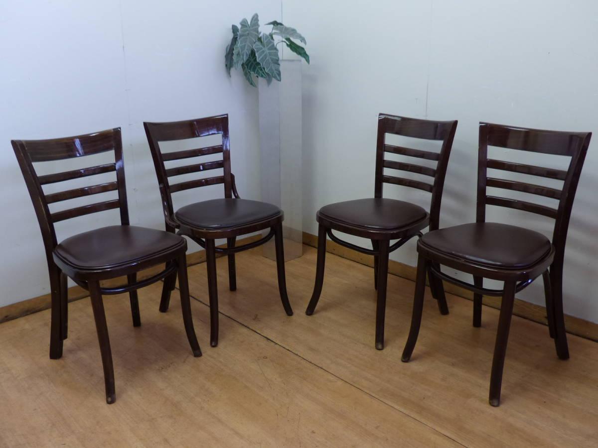 ⑥Oliver/オリバー■業務用椅子 チェア 4脚セット■ポーランド製 曲木■カフェ・飲食・レストラン■在庫多数あり!