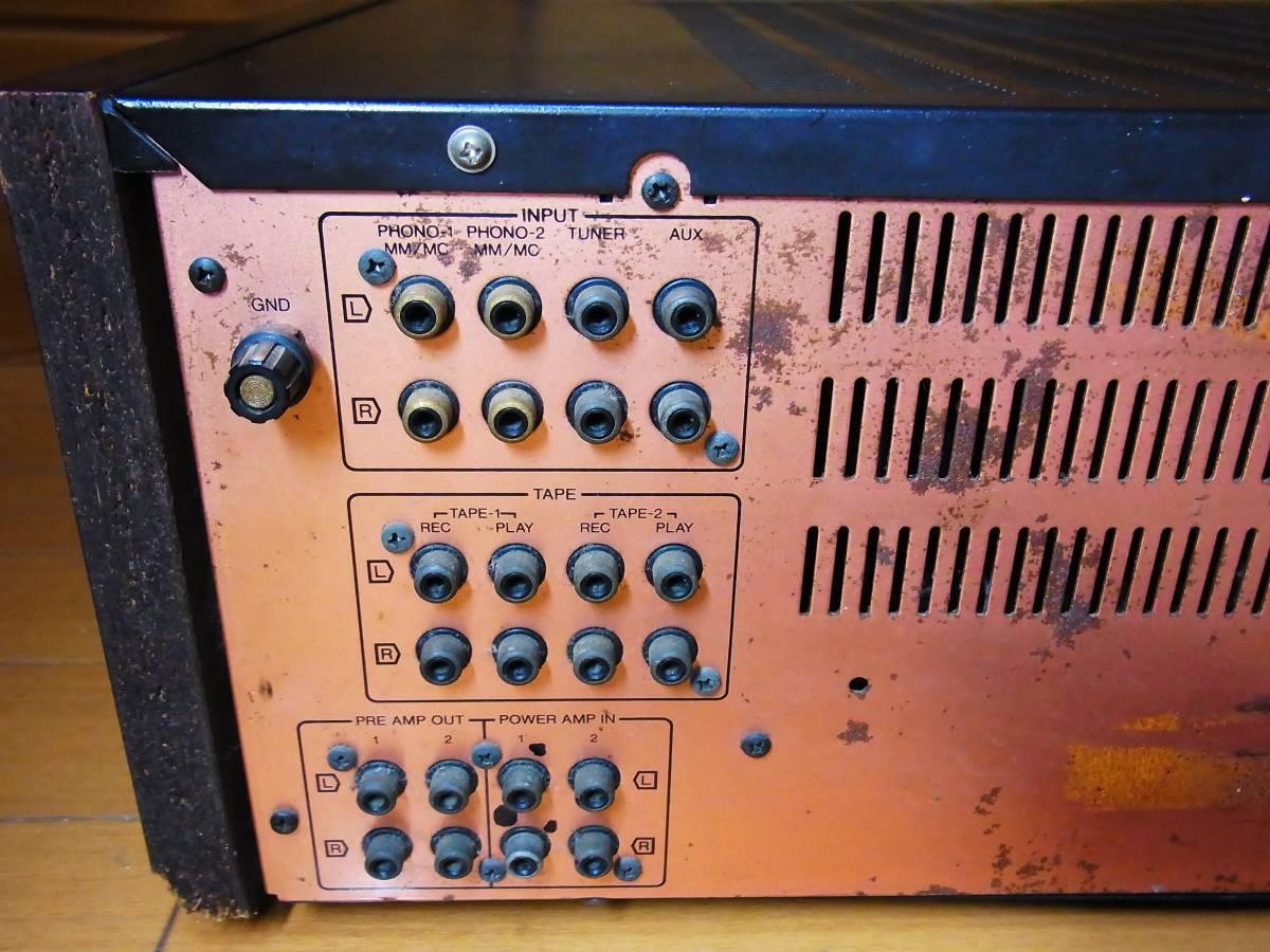 SANSUI AU X-11 Junk for Parts. not work. サンスイ 部品取り等に 完全ジャンク 現状渡し ノークレームノーリターンを条件に100円から売切_画像5