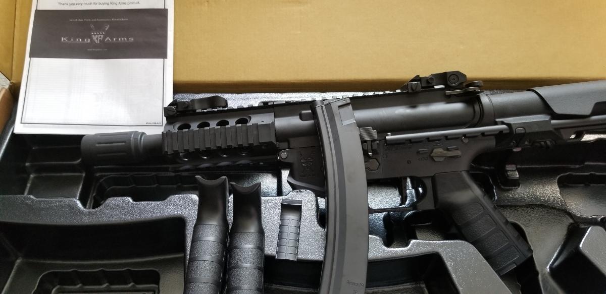 流速カスタムKING ARMS PDW 9mm SBR Shorty電動ガン