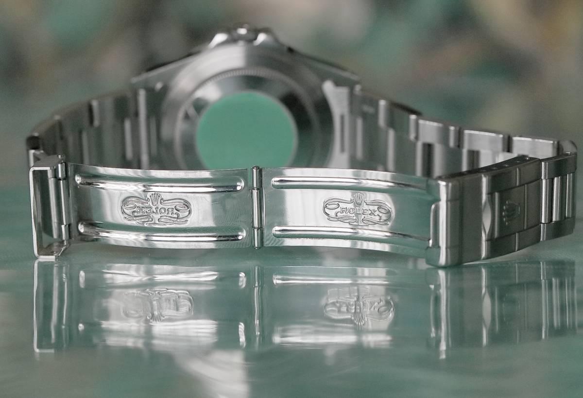 超美品  ROLEX  エクスプローラーII 16570 GMT 黒文字盤 T番 人気のオールトリチウム 最後の40mmサイズ_画像6