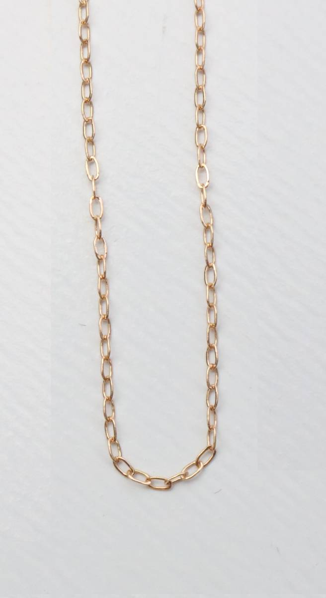 K18PGあずきチェーン18金ピンクゴールド 40 cm(調整可能)・きらきらと華奢に光る定番のシンプルアズキチェイン・コストプラス1円スタート