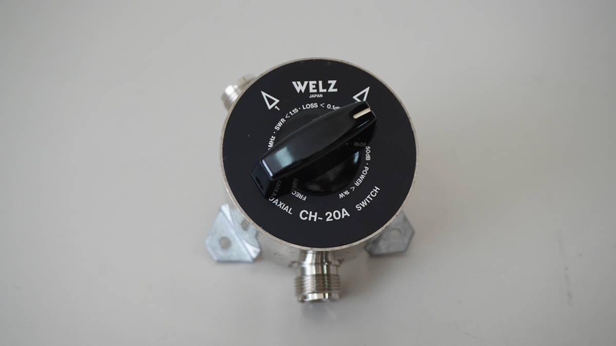 WELZ アンテナセレクター、同軸切替器 COAXIAL SW CH-20A_画像2