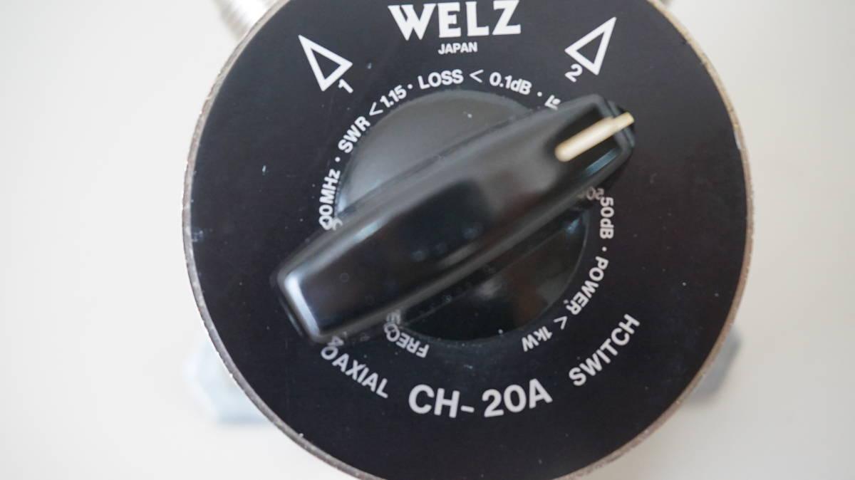 WELZ アンテナセレクター、同軸切替器 COAXIAL SW CH-20A_画像5