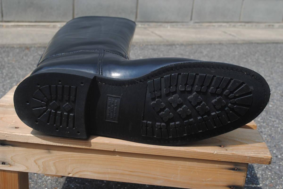 新品 ヨーロッパ風 イギリス調 乗馬靴 バイク警察 ナチス・ドイツ将校用長靴ブーツ ポロブーツ 黒牛革 ノンスリップ底 25cm_画像7