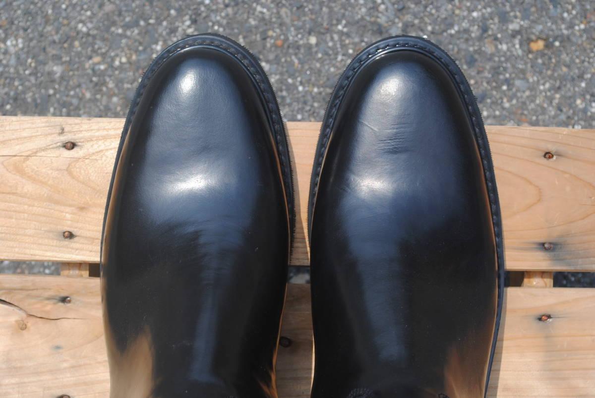 新品 ヨーロッパ風 イギリス調 乗馬靴 バイク警察 ナチス・ドイツ将校用長靴ブーツ ポロブーツ 黒牛革 ノンスリップ底 25cm_画像2