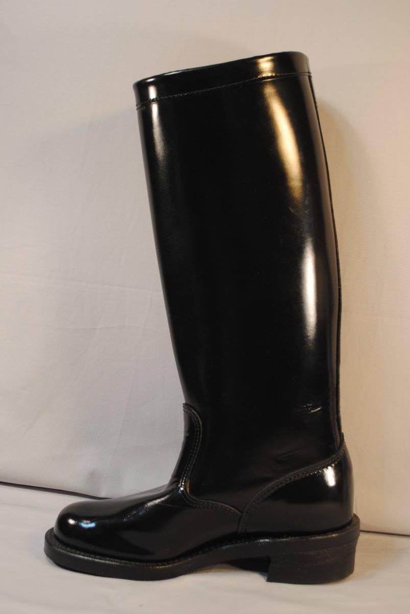 新品 在処分品 アメリカ製 チペワ 黒牛革 ポリス 乗馬 バイク用 ロングブーツ 品番71419 ビブラム底 9.5D_画像4