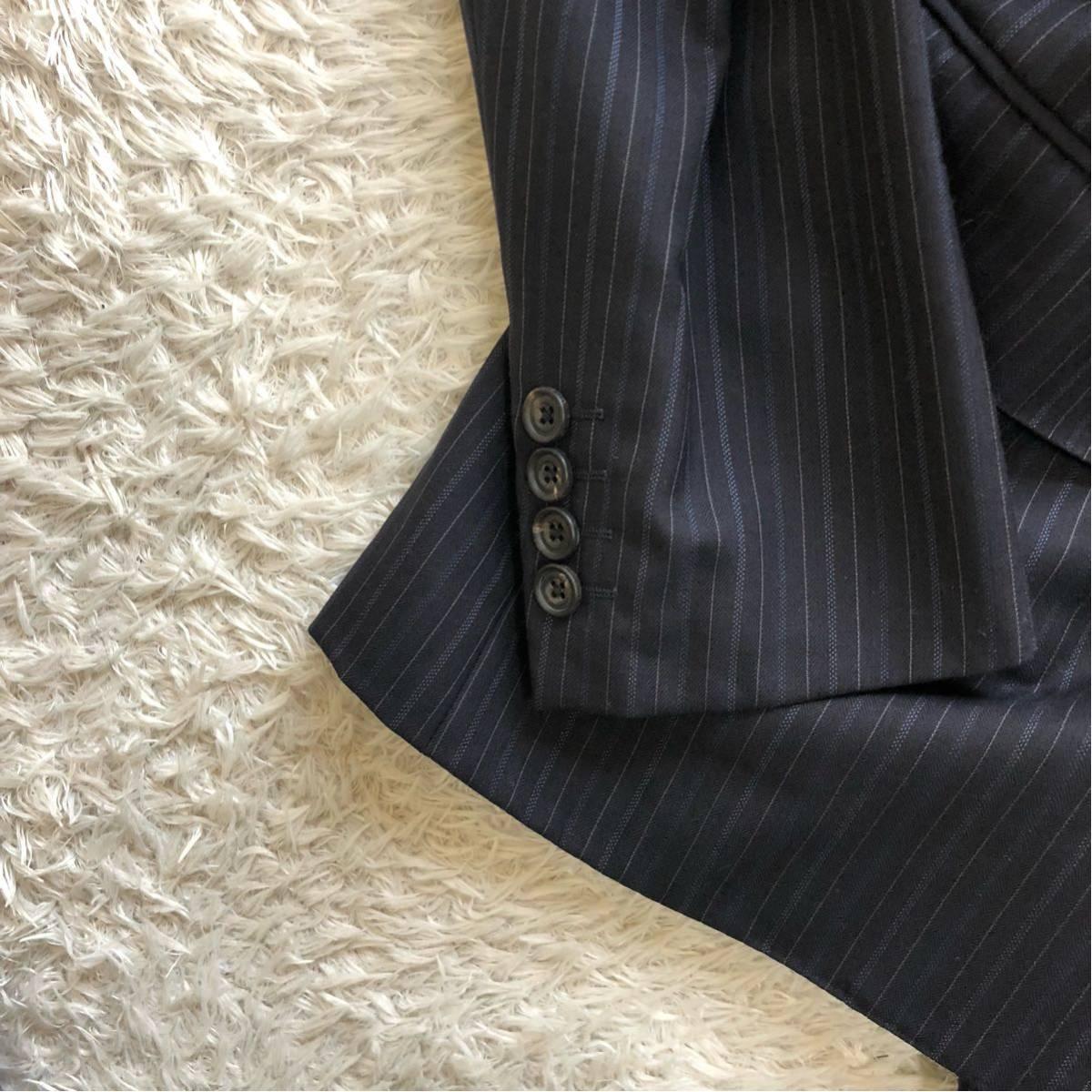 【英国感漂う1着】 アクアスキュータム 2B シングル スーツ 美品 M~Lサイズ相当_画像6