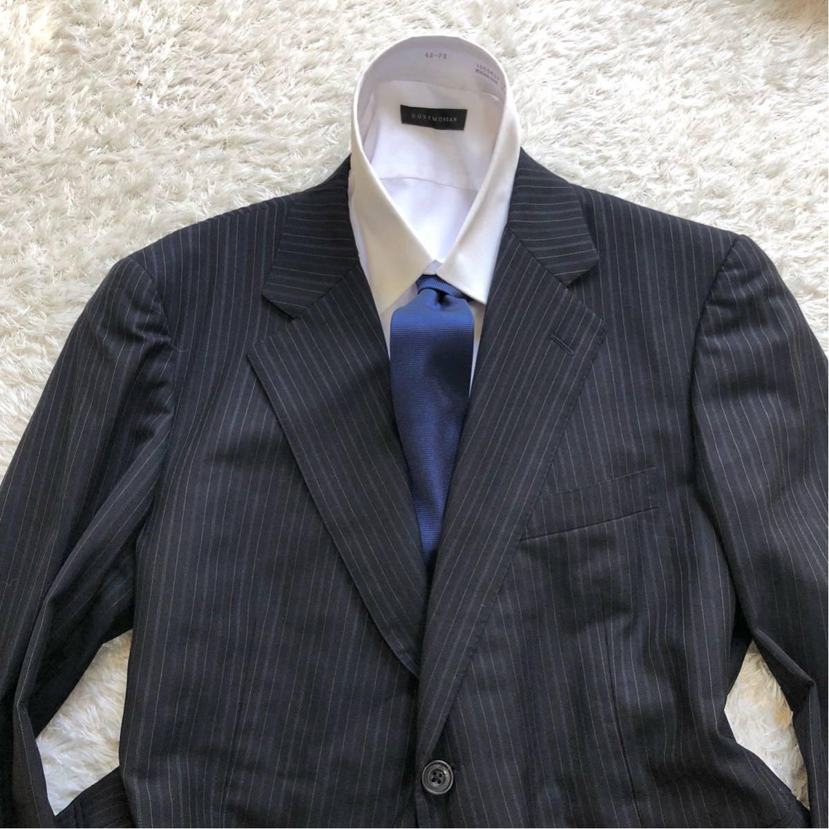 【英国感漂う1着】 アクアスキュータム 2B シングル スーツ 美品 M~Lサイズ相当_画像2