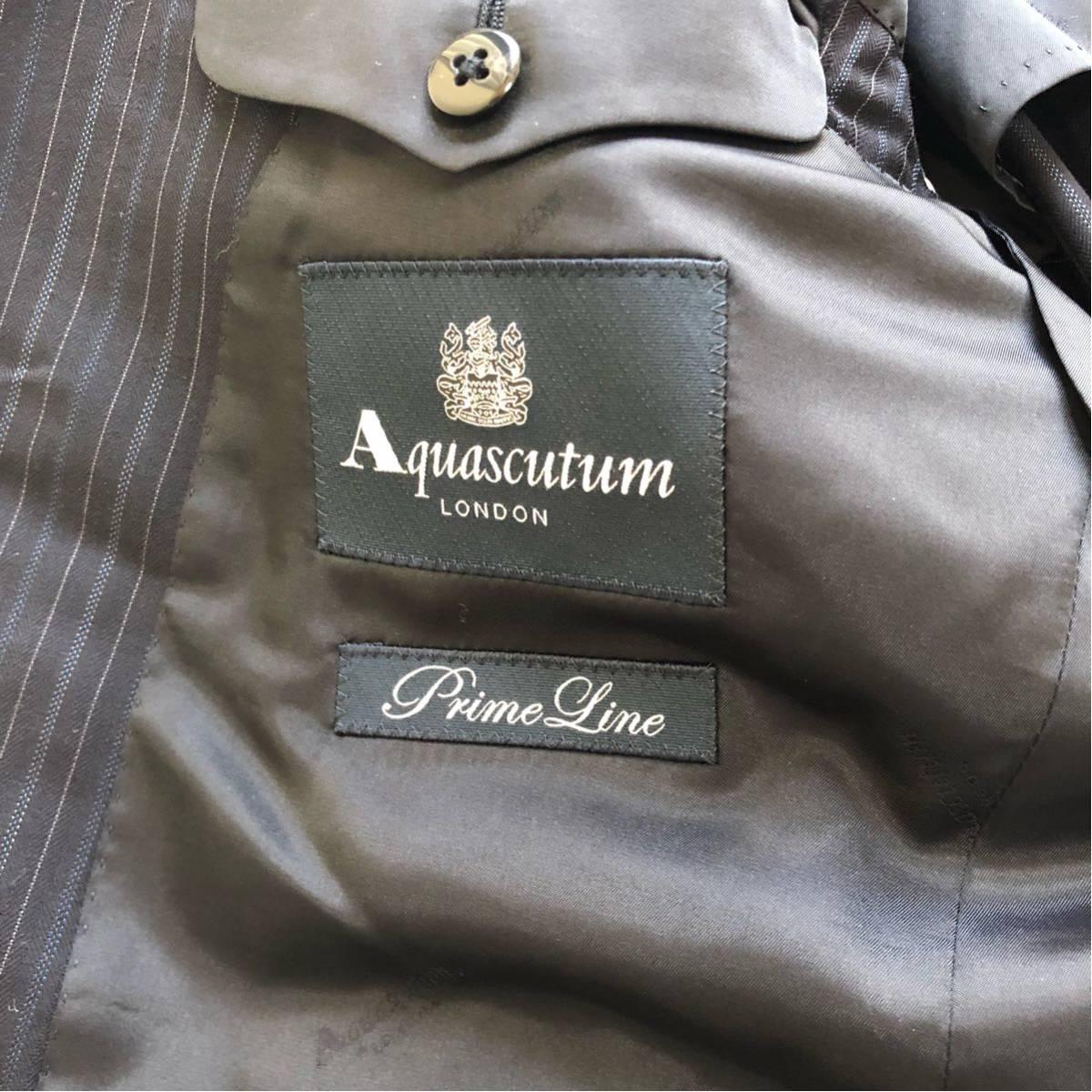 【英国感漂う1着】 アクアスキュータム 2B シングル スーツ 美品 M~Lサイズ相当_画像7