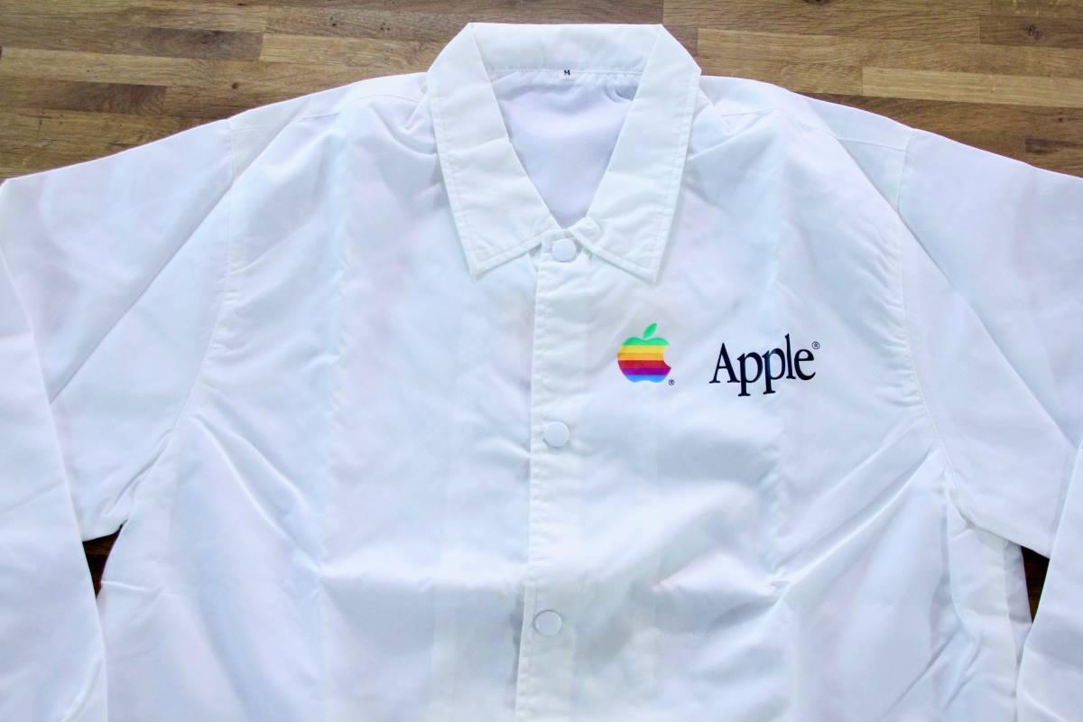 デッドストック 激レア! Apple Computer アップル コンピューター レインボーロゴ コーチジャケット 非売品 ノベルティー Think Different_画像10