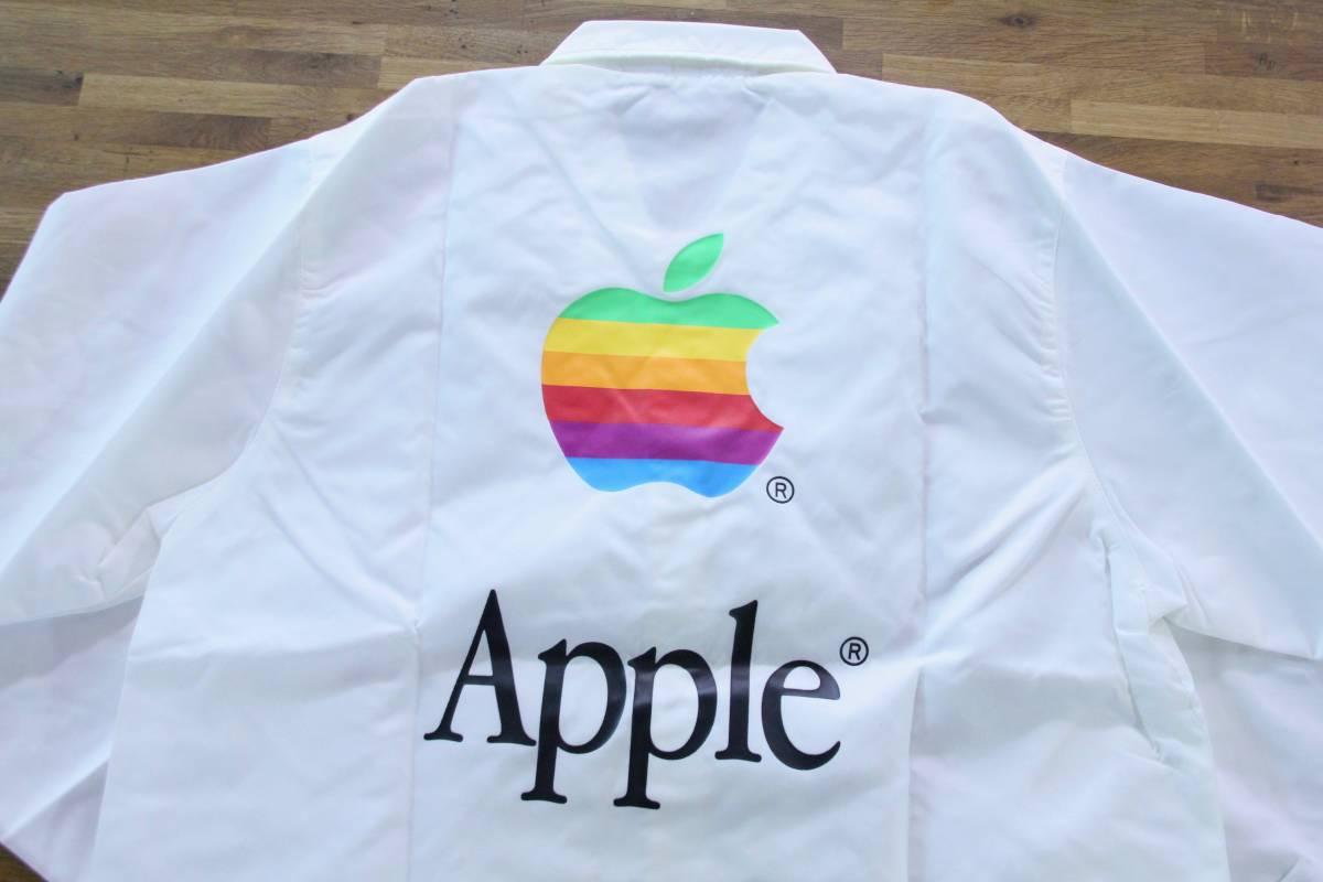 デッドストック 激レア! Apple Computer アップル コンピューター レインボーロゴ コーチジャケット 非売品 ノベルティー Think Different_画像3
