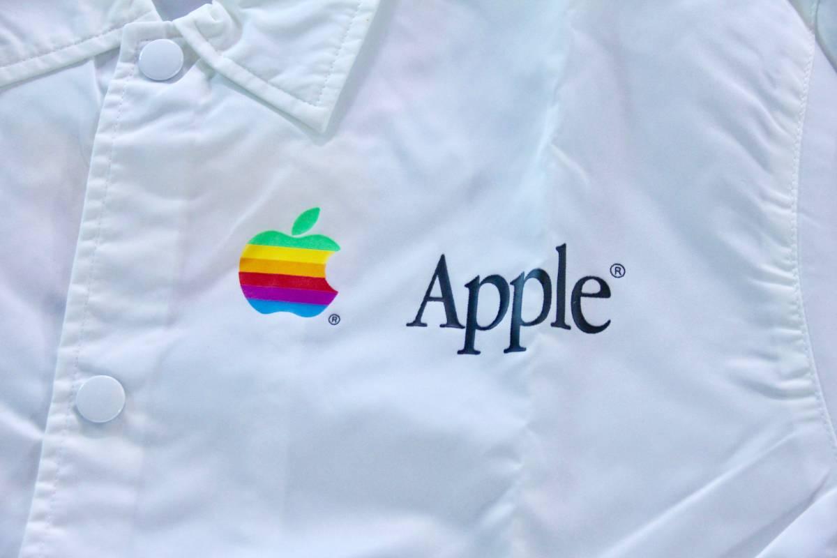 デッドストック 激レア! Apple Computer アップル コンピューター レインボーロゴ コーチジャケット 非売品 ノベルティー Think Different_画像4