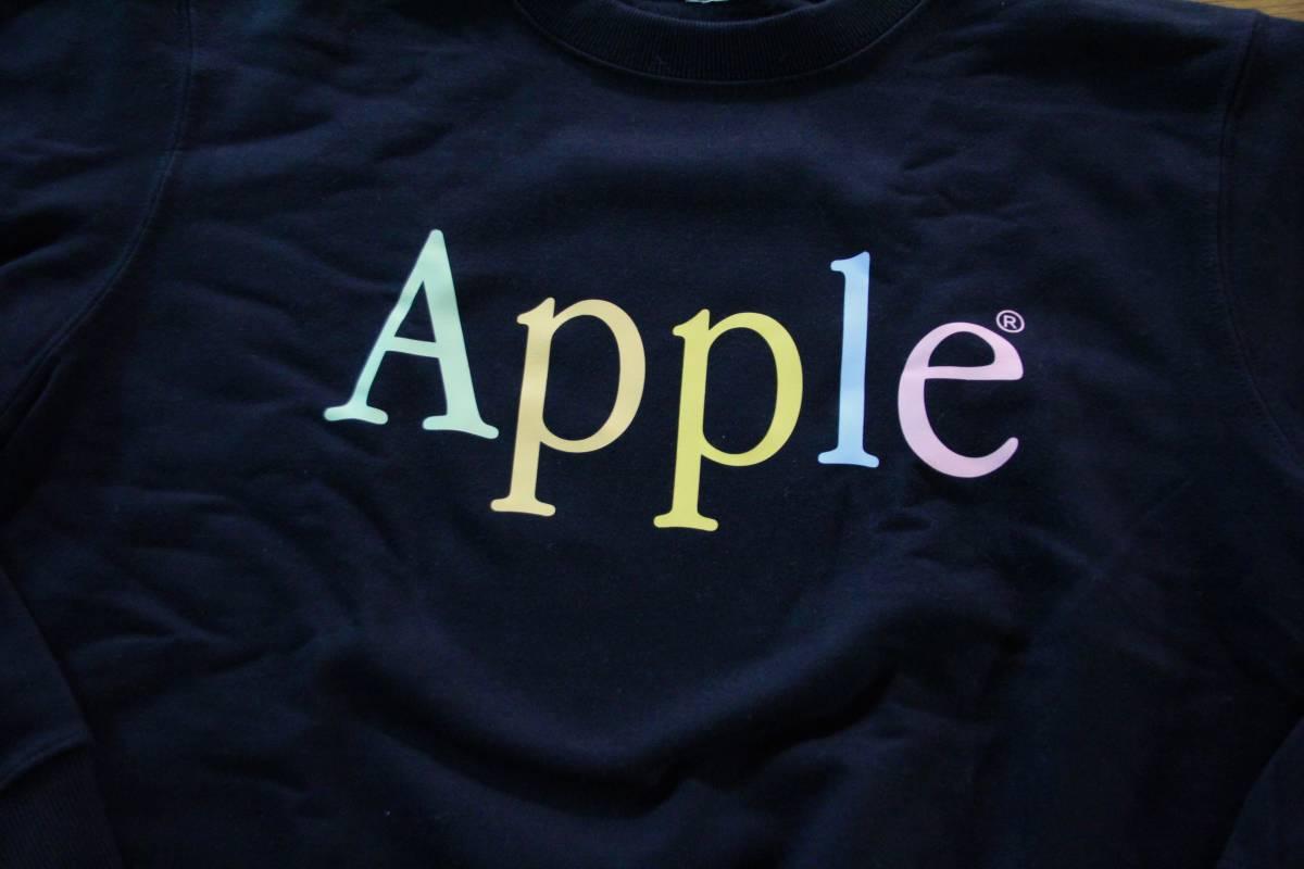 レア Apple Computer アップル コンピューターレインボー ロゴ スウェット トレーナー Lサイズ 非売品 ノベルティー Think Different_画像2
