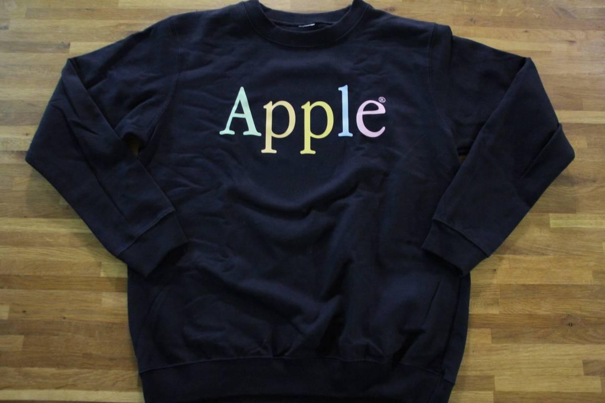 レア Apple Computer アップル コンピューターレインボー ロゴ スウェット トレーナー Lサイズ 非売品 ノベルティー Think Different_画像1