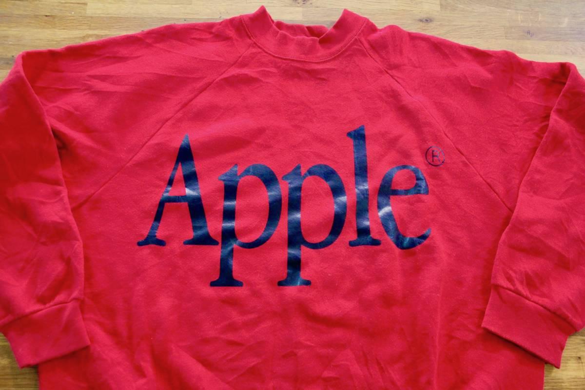 90年代? ビンテージ レア Apple Computer アップル コンピューター ロゴ スウェット XL 非売品 ノベルティー Think Different レインボー_画像2