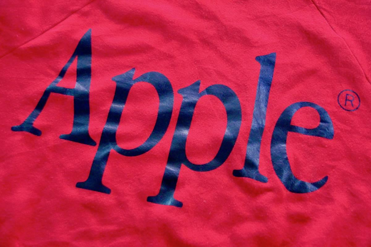 90年代? ビンテージ レア Apple Computer アップル コンピューター ロゴ スウェット XL 非売品 ノベルティー Think Different レインボー_画像4