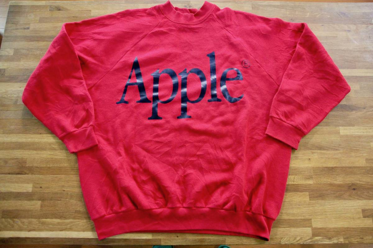 90年代? ビンテージ レア Apple Computer アップル コンピューター ロゴ スウェット XL 非売品 ノベルティー Think Different レインボー_画像1