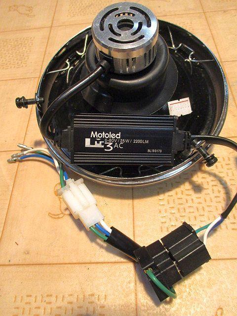 モンキーゴリラ マーシャル(MARCHAL)819ドライビングランプASSY &汎用ライトユニット&メッキライトケースのフルセット_画像3