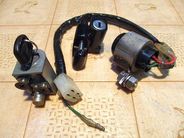 ホンダ純正6Vメインキーシリンダー&ハンドルロックシリンダー&ヘルメットホルダーシリンダー&カギのセット:モンキーカギ鍵_画像4