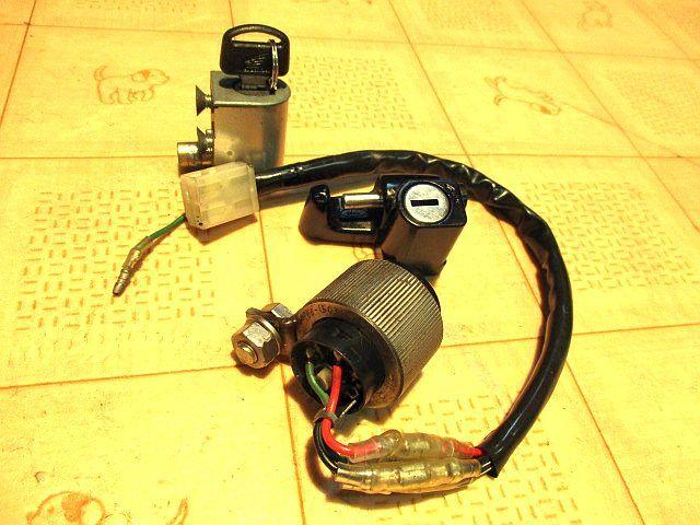ホンダ純正6Vメインキーシリンダー&ハンドルロックシリンダー&ヘルメットホルダーシリンダー&カギのセット:モンキーカギ鍵_画像5