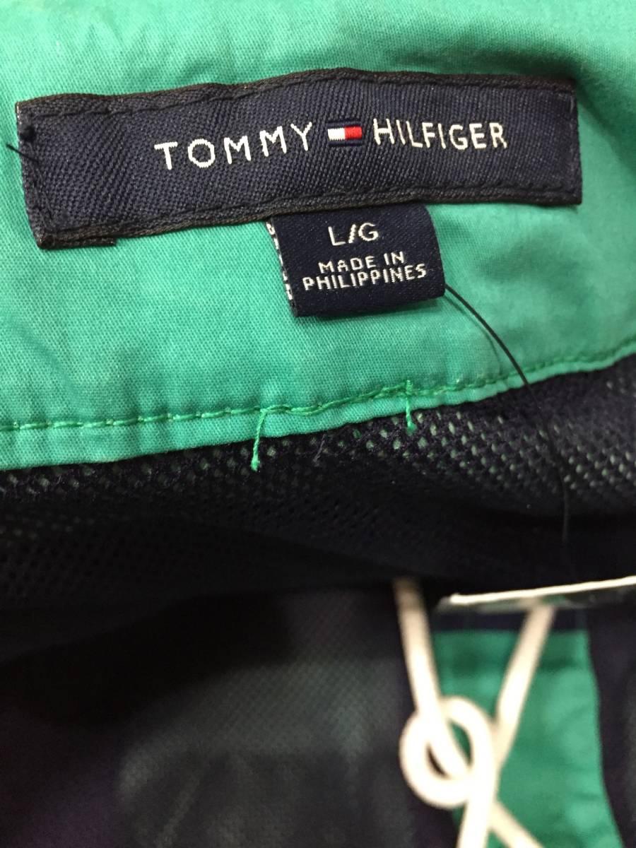 新品 L サイズ TOMMY HILFIGER トミー ヒルフィガー 水着 SWIM WEAR スイム ウェア 海パン ハーフパンツ ショート パンツ ライン