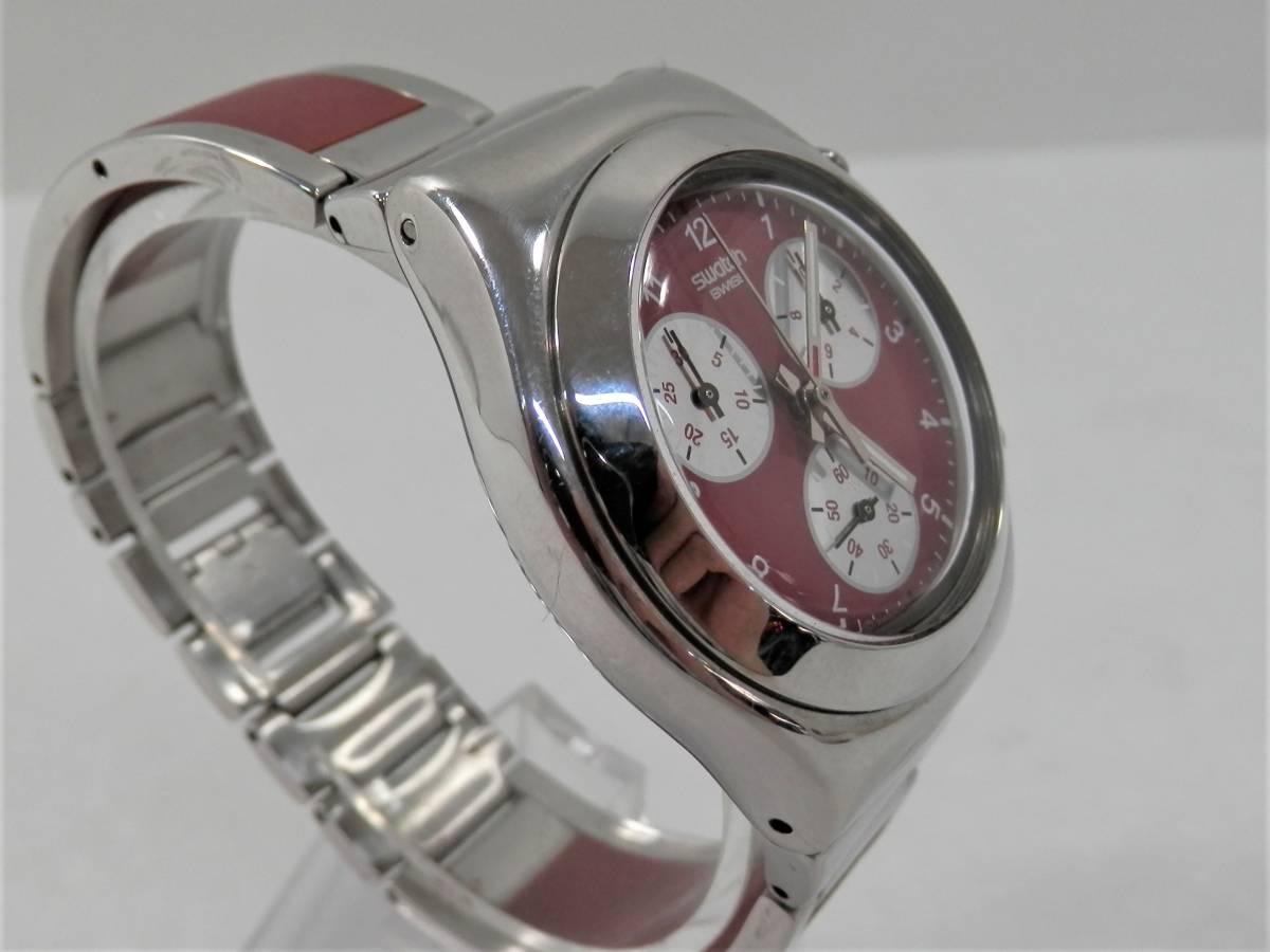 稼働品 swatch スウォッチ IRONY chrono アイロニー クロノ AG2000 レディース 腕時計 クォーツ_画像4