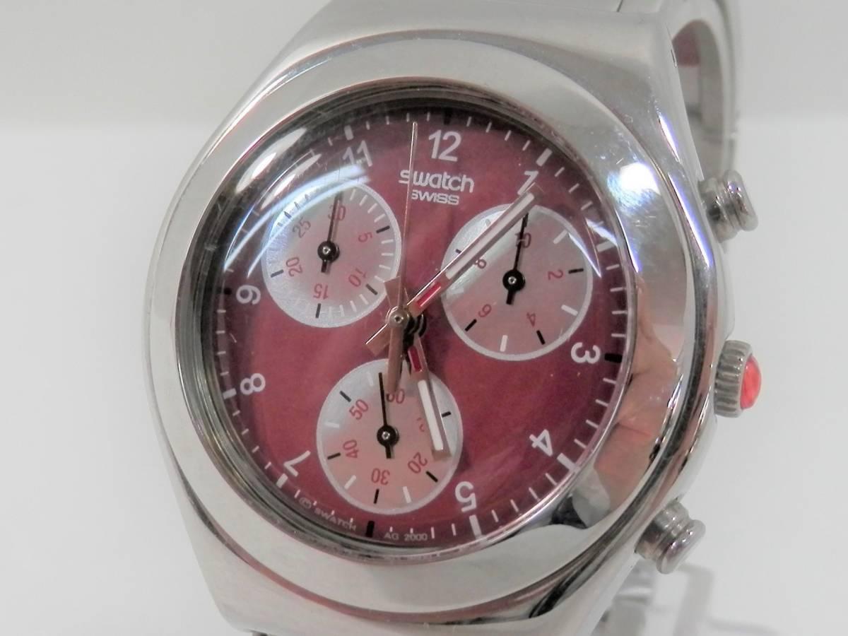 稼働品 swatch スウォッチ IRONY chrono アイロニー クロノ AG2000 レディース 腕時計 クォーツ_画像2