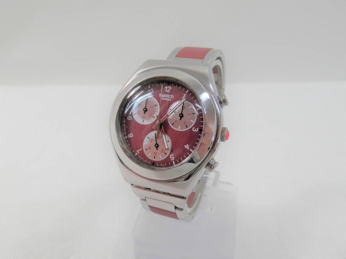 稼働品 swatch スウォッチ IRONY chrono アイロニー クロノ AG2000 レディース 腕時計 クォーツ
