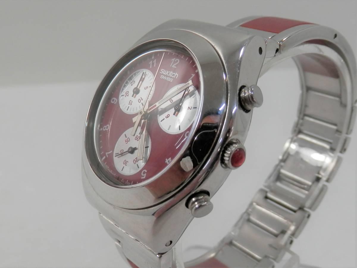 稼働品 swatch スウォッチ IRONY chrono アイロニー クロノ AG2000 レディース 腕時計 クォーツ_画像3