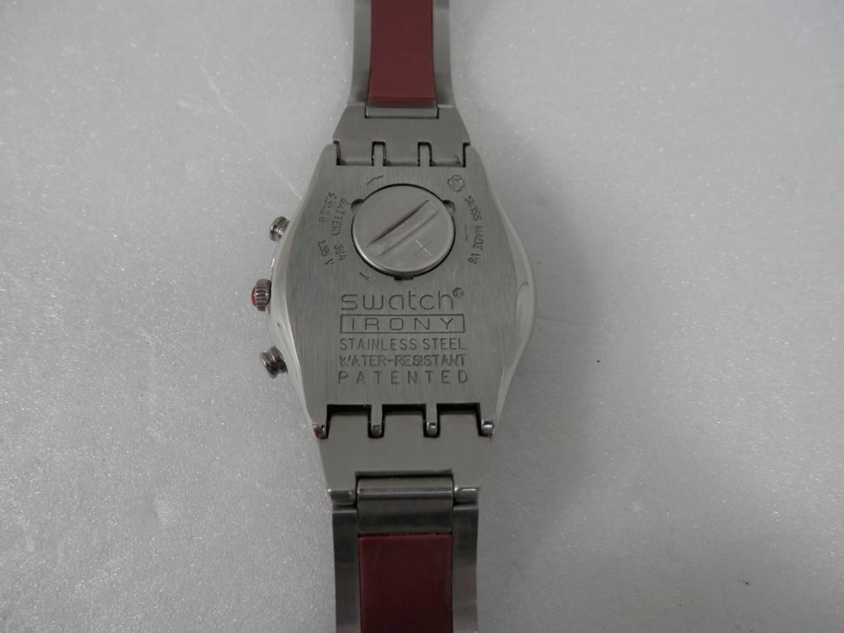 稼働品 swatch スウォッチ IRONY chrono アイロニー クロノ AG2000 レディース 腕時計 クォーツ_画像6