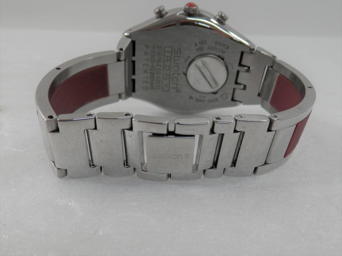 稼働品 swatch スウォッチ IRONY chrono アイロニー クロノ AG2000 レディース 腕時計 クォーツ_画像7