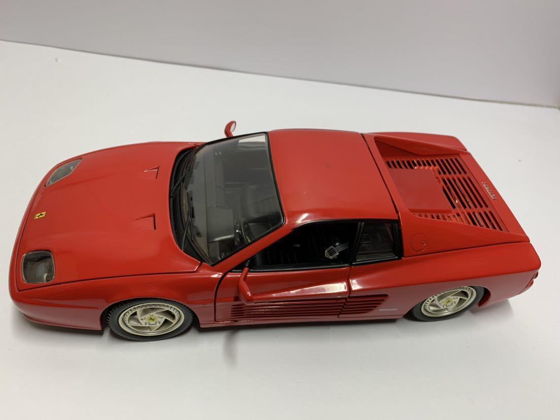 値下げ MATTEL マテル Hot Wheel ホットウィール 1/18 フェラーリF512M テスタロッサ レッド 送料無料_画像2