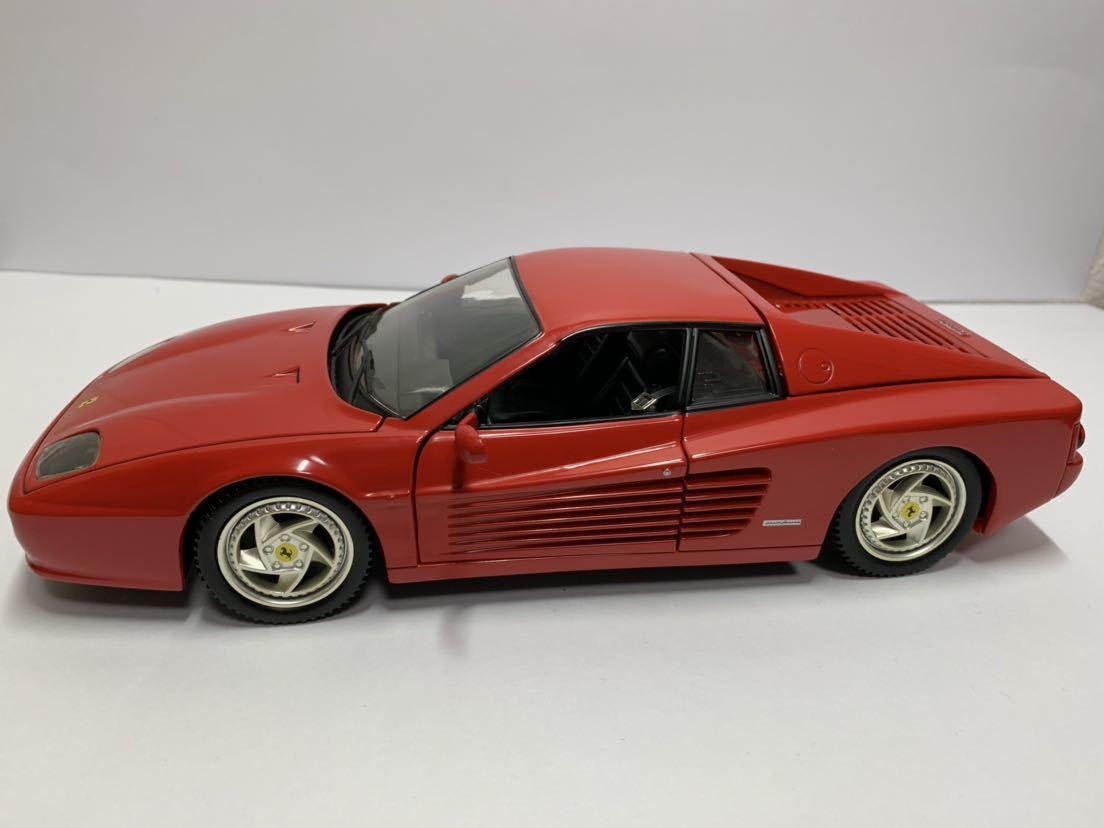 値下げ MATTEL マテル Hot Wheel ホットウィール 1/18 フェラーリF512M テスタロッサ レッド 送料無料_画像1