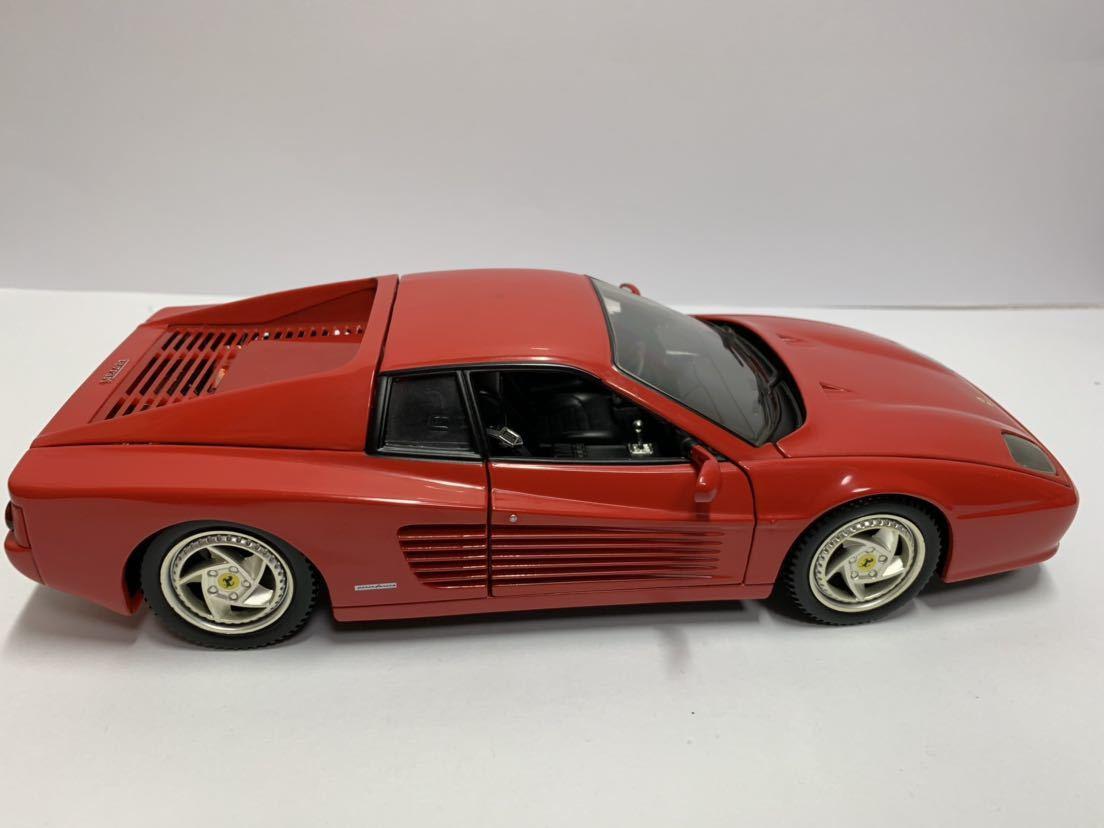 値下げ MATTEL マテル Hot Wheel ホットウィール 1/18 フェラーリF512M テスタロッサ レッド 送料無料_画像6