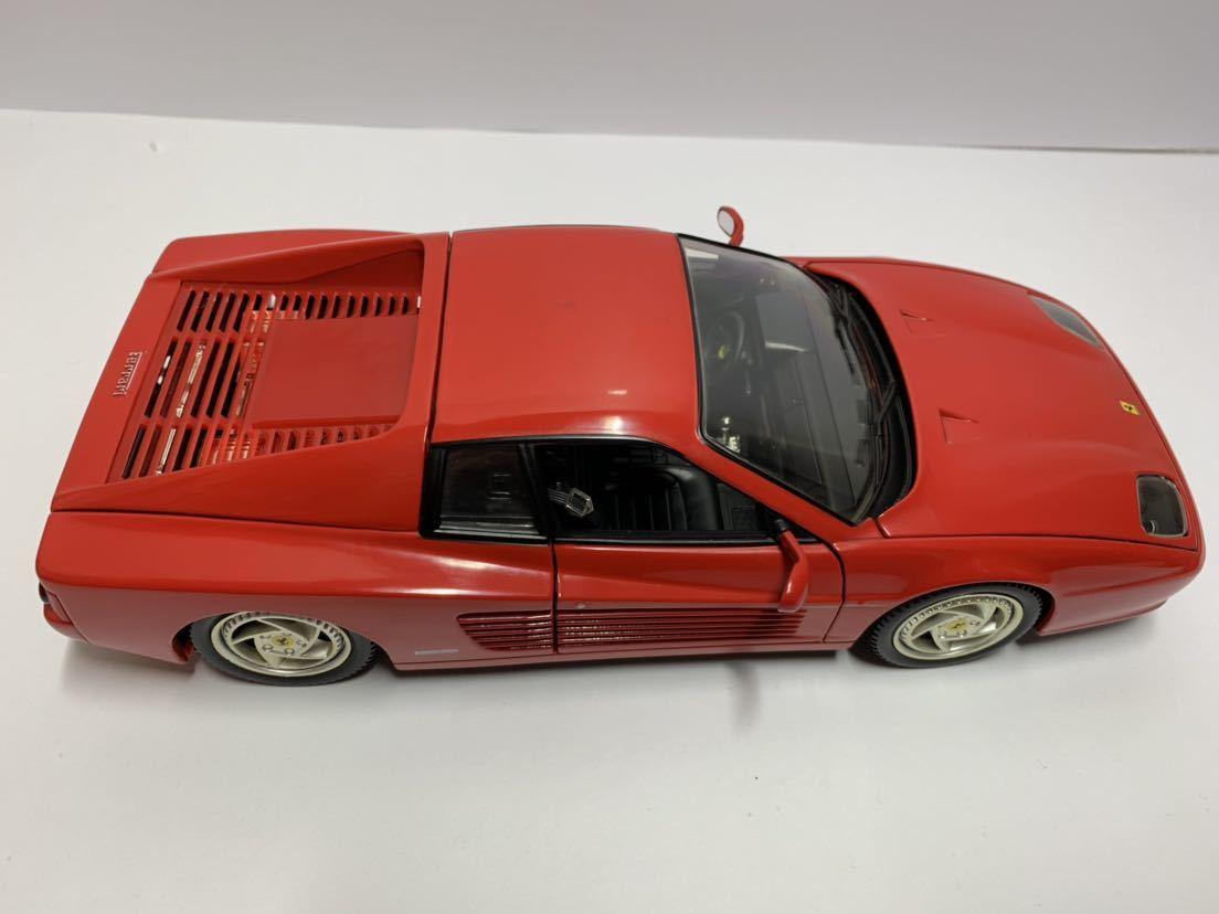 値下げ MATTEL マテル Hot Wheel ホットウィール 1/18 フェラーリF512M テスタロッサ レッド 送料無料_画像7