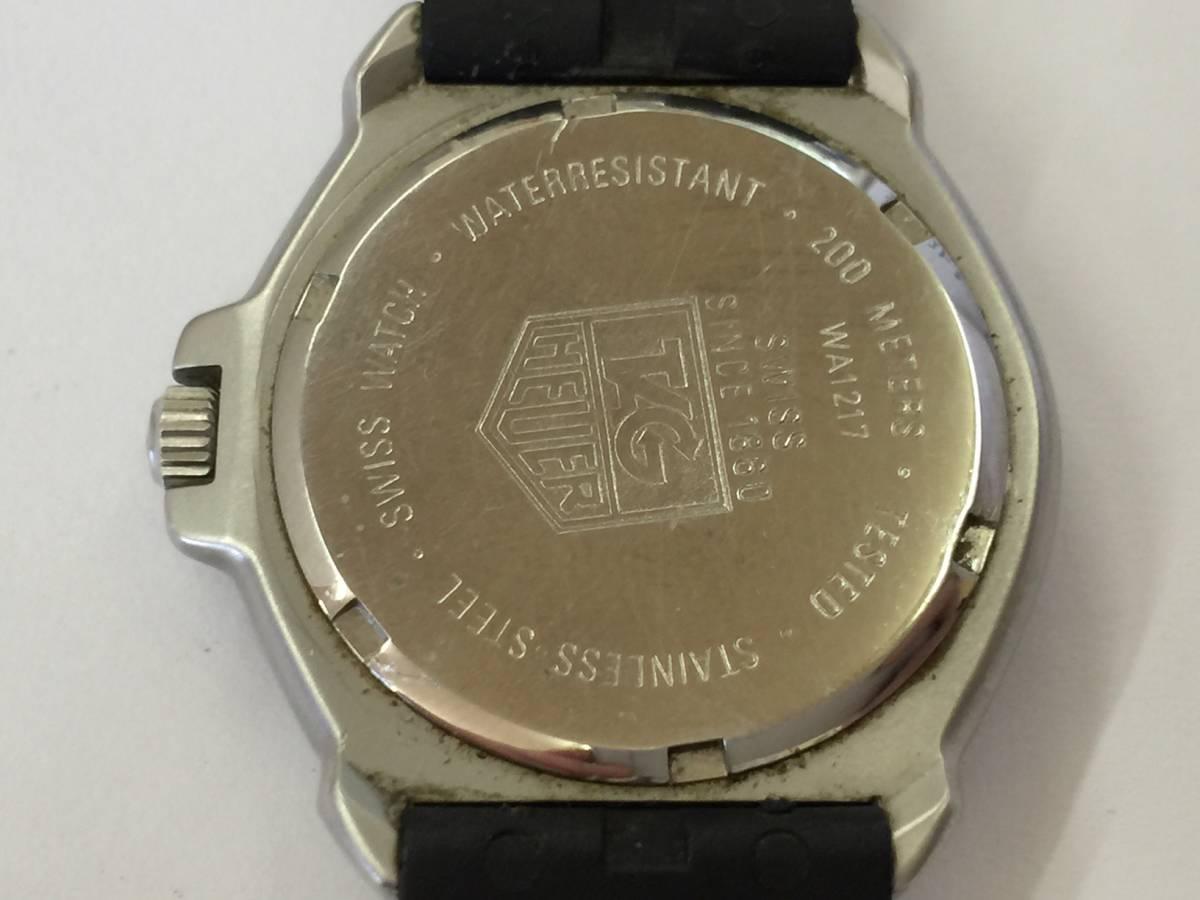 TAG HEUER タグホイヤー フォーミュラ プロフェッショナル 200M クォーツ 腕時計 WA1217 ジャンク _画像4