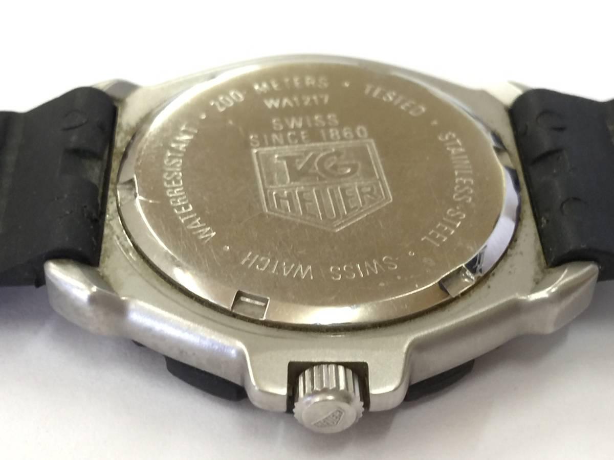 TAG HEUER タグホイヤー フォーミュラ プロフェッショナル 200M クォーツ 腕時計 WA1217 ジャンク _画像5