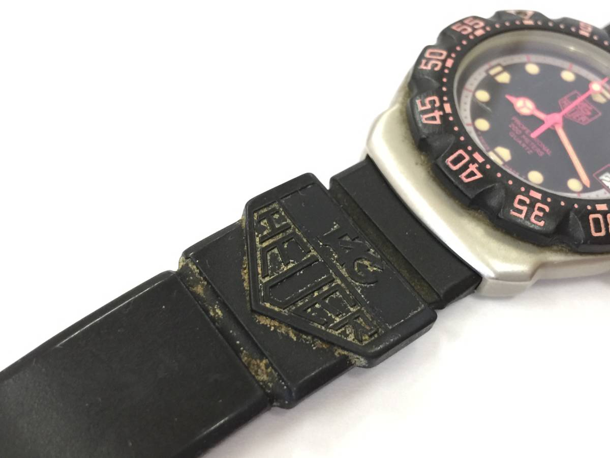 TAG HEUER タグホイヤー フォーミュラ プロフェッショナル 200M クォーツ 腕時計 WA1217 ジャンク _画像7