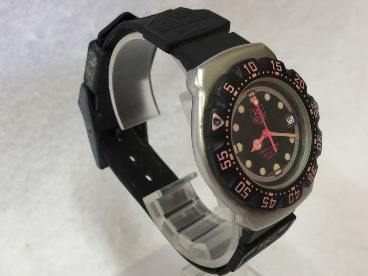 TAG HEUER タグホイヤー フォーミュラ プロフェッショナル 200M クォーツ 腕時計 WA1217 ジャンク _画像9