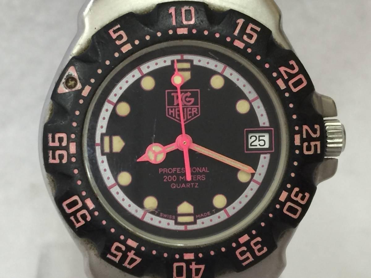 TAG HEUER タグホイヤー フォーミュラ プロフェッショナル 200M クォーツ 腕時計 WA1217 ジャンク _画像10