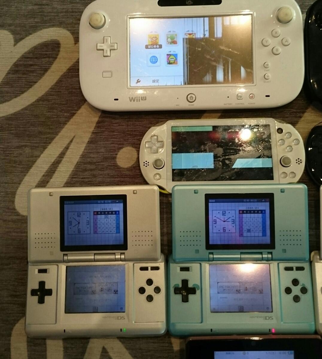 任天堂3DS/DS/PSVITA/WiiUパッド本体a13台ジャンク品まとめ売りセット起動品_画像2
