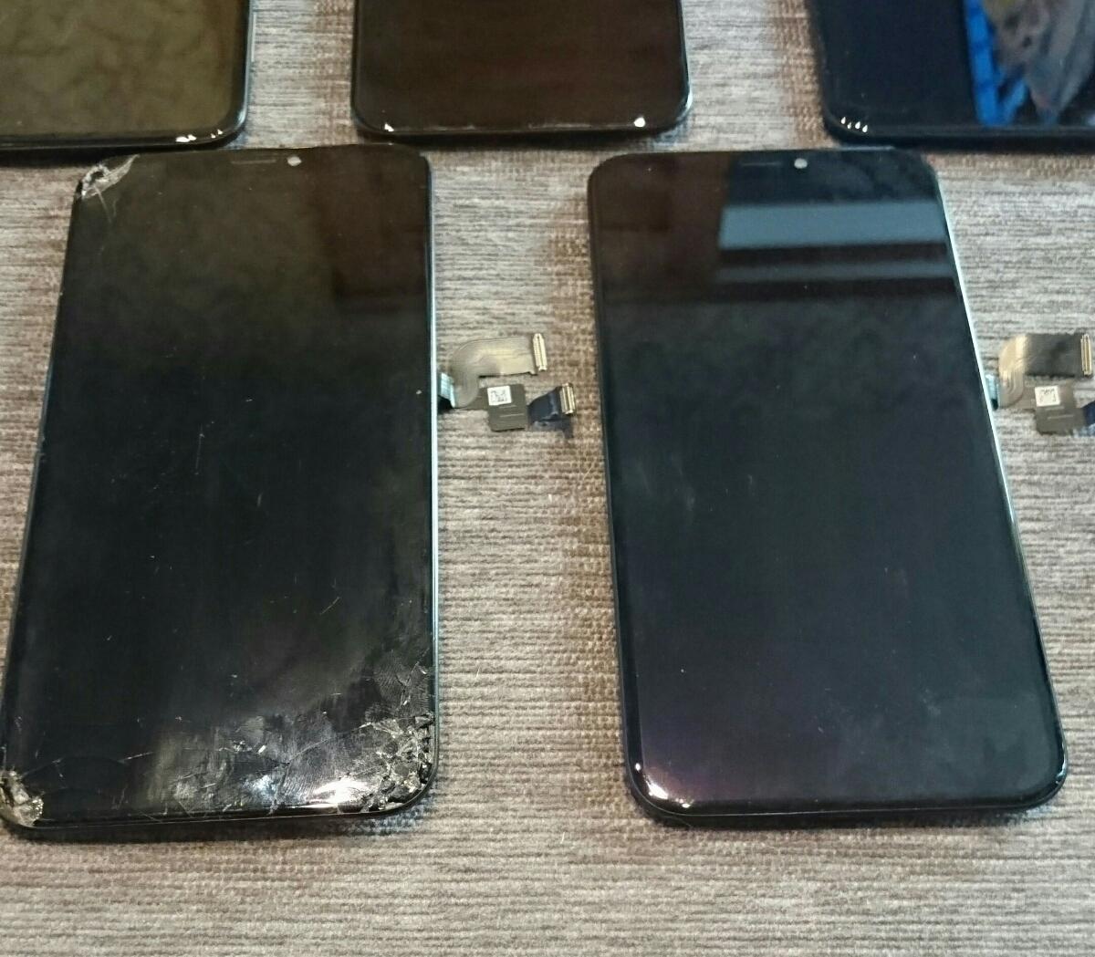 iPhoneX用有機EL(OLED)液晶パネル5枚ジャンク品まとめ売りセット iPhone X_画像2